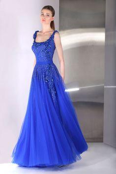 TONY WARD Blue Wedding Gown