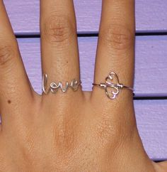 Wire Heart To Heart Ring - Double Hearts Ring Adjustable. $12.99, via Etsy.