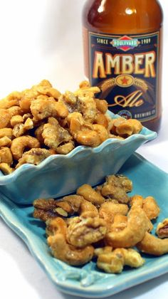 Beer Nuts - Candied Sweet Heat Beer Nuts... The beer is sugared and heated to make a delicious easy flavorful caramel candy sauce.