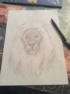 My daughter challenged me to draw a lion as fast as I could, this took 4 minutes ! if you like my drawings, and blogs jump over to my wordpress blog to follow and see more x