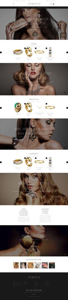 OpenCart Theme , Jewelry Showcase