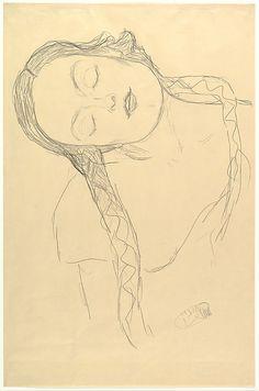 Half-figure of a Young Woman Gustav Klimt (Austrian, Baumgarten 1862–1918 Vienna)