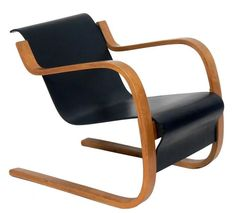 Cantilever Lounge Chair Model 31/42 by Alvar Aalto | From a unique collection of antique and modern lounge chairs at https://www.1stdibs.com/furniture/seating/lounge-chairs/
