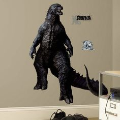 Wake up your wall!! Godzilla Peel & Stick Giant Wall Decals