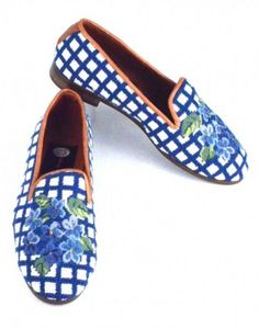 Hydrangea Needlepoint Loafer... I would like to have a pair of these!