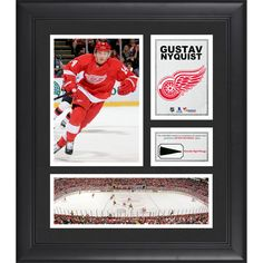 """Gustav Nyquist Detroit Red Wings Fanatics Authentic Framed 15"""" x 17"""" Collage with Piece of Game-Used Puck - $79.99"""
