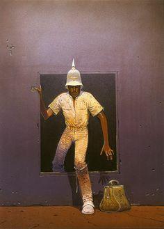 Major Grubert painting by Moebius.