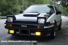 Cars for sale: The legendary Toyota Trueno for sale! Yes, it is the Initial D model. Panda color or can say it is a white manual transmission, Toyota Corolla, Toyota Celica, My Dream Car, Dream Cars, Street Racing Cars, Because Race Car, Pretty Cars, Old School Cars, Ae86