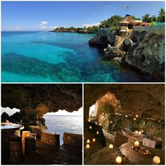 Romantic holiday, staying in a cave overlooking the ocean