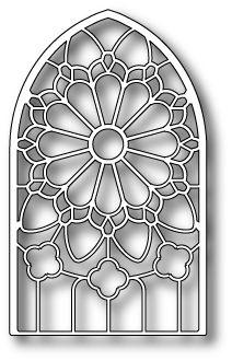 Designs Window Dies | Memory Box Poppystamps Die - Grand Gothic Stained Glass Window die