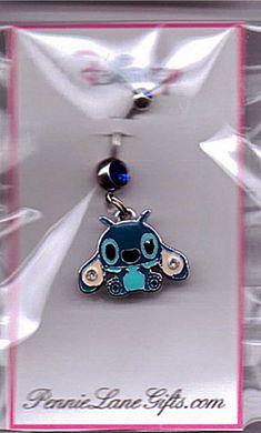 Stitch Belly Button Ring!!!! Gonna definitely get this when I get my belly button pierced! ((: