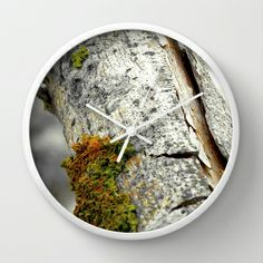 flotsam and jetsam no.4 Wall Clock by Pia Schneider [atelier COLOUR-VISION] - $30.00, #nature #photography #wood #tree #barck #mesh #artprint #society6 #flotsam #jetsam #strandgut #sylt #hörnum #nordsee #piaschneider #beach #wallclock #clock #walldecor #time #home #decor