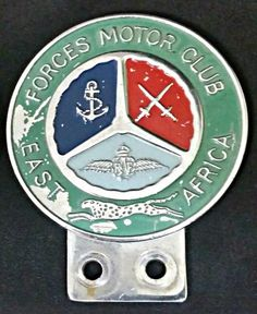 Forces Motor Club (Colonial British Forces), East Africa Car Badge