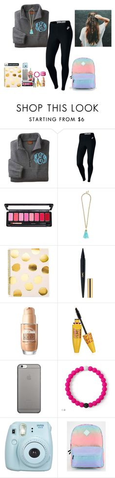 """""""School goals"""" by amaya-leigh ❤ liked on Polyvore featuring NIKE, BaubleBar, Sugar Paper, Maybelline, Native Union, Fujifilm and Vans"""