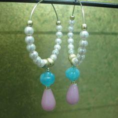 Pearl Hoop Earrings - Bindurekha Fashion Studio