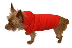 Pet Hoodie Sweater Pajamas for Dogs   Cats in Red Fleece Sizes S - XL Fleece 6ce99d648