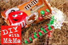 DIY: Make your friends smile with these fun M&M treat bags!--This is so cool!  Candy tubes you can make yourself.  You will need a few sandwich bags, parchment paper, scissors,  iron and ironing board.  So easy!