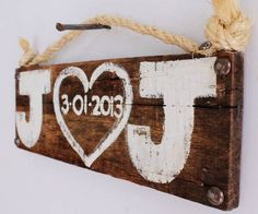 Personalized Wedding Sign Wood Custom Wedding Decor Beach Wedding Outdoor Country Wedding Reception Vintage Wedding Photo Prop Bridal Shower. $25.00, via | http://romanticelegancecollections.blogspot.com