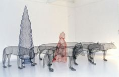 Magical Scenes Sculpted with Chicken Wire by Benedetta Ubaldini