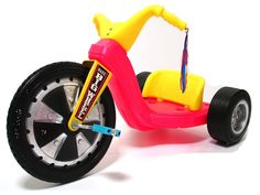Loved my big wheel!  And you could turn it upside down, spin it with your hands, and pretend to make ice cream!