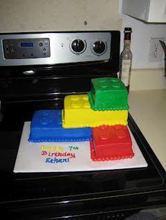 Lego cake--for Brady's birthday month