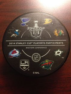 2014 NHL Stanley Cup Playoff Puck Western Conference All Teams | eBay