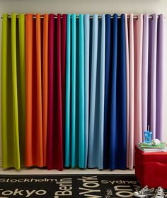 Brighten up your space with colourful curtains! These curtains add colour to your space while blocking light due to their woven blackout feature. #searsback2campus #back2campus