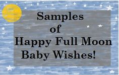 Happy Full Moon Baby Wishes | What to Write in One Month Birthday Card
