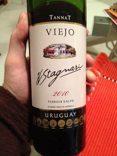 Viejo - Tannat - 2010 - H. Stagnari - Salto, Uruguay I'll try your wines! I love Chile's pino noir perhaps a red from Uruguay is as good!