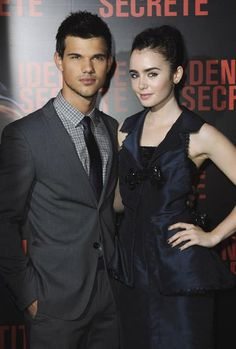 Taylor Lautner and Lily Collins :)