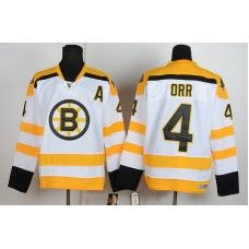 Reebok Bobby Orr Boston Bruins #4 Replica Hockey Jersey - White_Bobby Orr Jersey