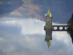 The Straining Tower at Lake Vyrnwy, Wales