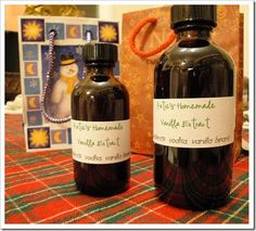 Homemade Vanilla Extract: great Christmas gift.  Order supplies in late spring, start mid-summer, ready for Christmas!