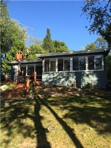 2 bedroom cottage on Otty Lake. Sloped lawn to nice waterfront - good swimming! Ontario Cottages, Cottage Rentals, Best Swimming, Perth, Lawn, Condo, Vacation, Bedroom, Nice