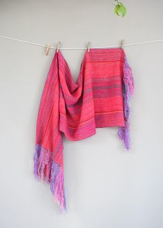 Vintage Hand Woven Colrorful Fringed Rebozo by thevintagejesus on Etsy