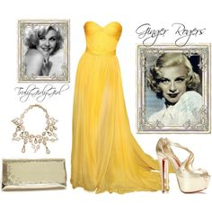 """Ginger Rogers"" by trulygirlygirl on Polyvore"