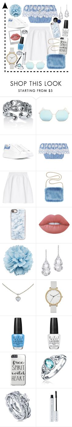 """Out and about🌻"" by lara-fashion22 ❤ liked on Polyvore featuring Palm Beach Jewelry, Quay, Alexander McQueen, Miguelina, malo, Casetify, Polaroid, Lime Crime, Gucci and Plukka"
