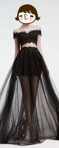 beaded tulle prom dress,blcak prom dresses,new fashion evening