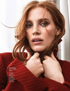 Actress Jessica Chastain graces the October 7, 2016 cover of ELLE France. The 'Miss Sloane' star strikes a pose in a Gucci embroidered bomber jacket for the Van Mossevelde + N lensed image. The gorgeous redhead wears standout looks including pullover sweaters and elegant coats. Stylist Barbara Loison selects the designs of Atelier Versace, Isabel …