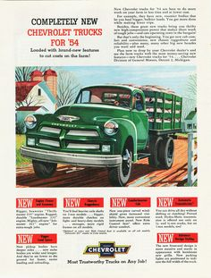 Chevy trucks aficionados are not just after the newer trucks built by Chevrolet. They are also into oldies but goodies trucks that have been magnificently preserved for long years. New Chevrolet Trucks, 1954 Chevy Truck, Classic Chevy Trucks, Classic Cars, Gm Trucks, Pickup Trucks, Diesel Trucks, Lifted Trucks, Station Wagon