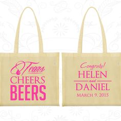 Personalized Bags, Tote Bags, Wedding Tote Bags, Personalized Tote Bags, Custom Tote Bags, Wedding Bags, Wedding Favor Bags (462)