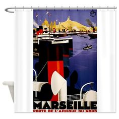 Port of Marseille Shower Curtain on CafePress.com