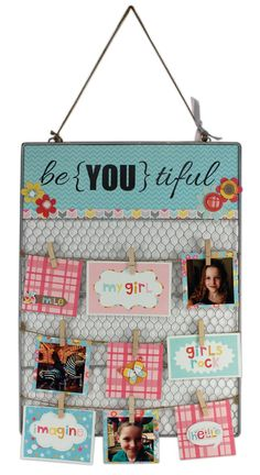 be {YOU} tiful Wire Board Tutorial by Crafts Direct An easy and super beautiful way to display photos or cards!