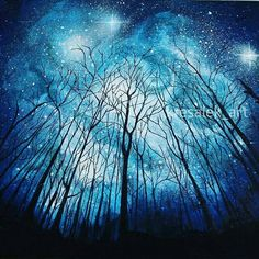 Magic forest acrylic paint