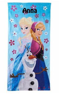 Disney Frozen Anna Elsa Olaf Summer Fun Cotton Beach Towel  Free Monogram