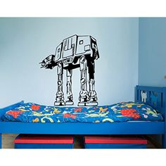 Star Wars Wall Decals AT-AT Walker Vinyl Sticker Decal Fighter Wall Decal Children Kids Nursery Bedroom Office Decor Window Dorm x208 * Be sure to check out this awesome product. (This is an affiliate link) #KidsRoomDcor