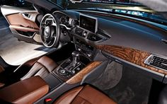 Audi A7 - interior is beautifully crafted #NougatBrown