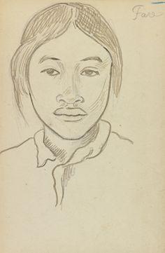 Fare, drawing by Paul Gauguin Paul Gauguin, Fine Art Drawing, Art Drawings, Gauguin Tahiti, Virtual Museum Tours, Impressionist Artists, Artist Sketchbook, Famous Artists, Art Day