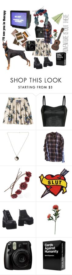 """""""Oh the boy's a slag, the best you ever had"""" by living-among-the-moon-and-stars ❤ liked on Polyvore featuring Xhilaration, MANGO, Forever 21, T.U.K., Threshold, Impossible Project, Urban Outfitters, Fujifilm, grunge and alternative"""