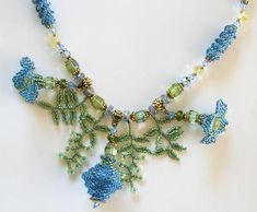 Balloon Flower Beadwork Necklace need to buy